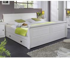 "Bett 140x200cm ""Mailand-Weiß"" Kiefer weiß"
