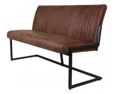 Sitzbank 170cm 'Texas' Polster cognac & Eisen schwarz