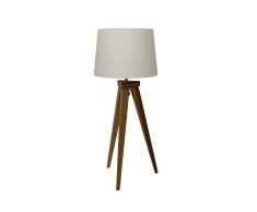 """Tischlampe """"Jea"""" Bambus-Holz, Schirm aus Stoff"""