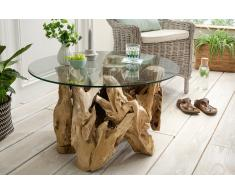 """Couchtisch 80cm """"Java"""" recyceltes Holz"""