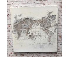 "Wandbild 100x100cm ""World"" handgemalt"