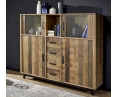 Highboard 165x140cm 'Medina' Altholz massiv