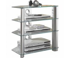 Tv-Rack, Silber, XXXL