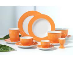 Frühstücks-Set 18 tlg. Doppio orange