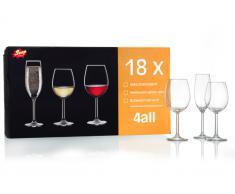 Rotweingläser 43cl 18 tlg. 4All