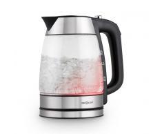 oneConcept Rainbow Water Wasserkocher Farbwechsel-LED 1,7L 2200W Glas