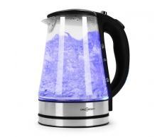 oneConcept Blue Lagoon Wasserkocher LED Edelstahl 1,7L 2200W schwarz