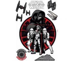 Wandsticker, Komar, »Star Wars Frist Order«, 50/70 cm, rot, rot/schwarz