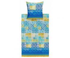 Bettwäsche, Bassetti, »Vietri«, mit Kachel-Muster, blau, blau