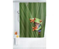 Wenko Duschvorhang Frog, 180/200 cm, waschbar, bunt, Mehrfarbig