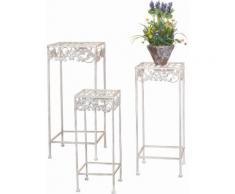 Home affaire Metall-Blumenständer, 3er-Set, natur, cremeweiß
