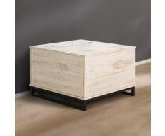 Home affaire Truhentisch »Santo«, Breite 75 cm., braun, weiß/braun gewischt