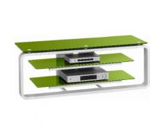 Maja Möbel TV-Rack, grün, weiß Hochglanz/Glas grün