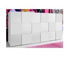INOSIGN Sideboard in 3-D Optik, Breite 181 cm, weiß, Front weiß Hochglanz