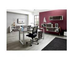 GERMANIA Büromöbel-Set »Altino« (2-tlg.), weiß, weiß/basalto-dunkel