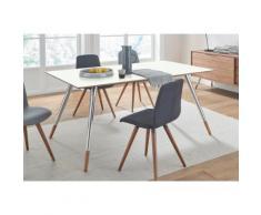 andas Esstisch »stick« mit Chromabsetzungen an den Beinen, in zwei Breiten, weiß, walnut/Laminat weiß