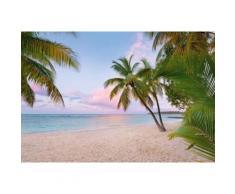 Komar Vlies Fototapete »Paradise Morning«, 368/248 cm, blau, blau/beige