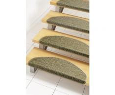 Stufenmatte, »Dortmund«, Dekowe, stufenförmig, Höhe 8 mm, maschinell gewebt, braun, Unisex, haselnuss