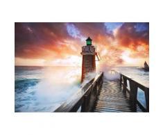 Home affaire Fototapete »Lighthouse«, 350/260 cm, orange, orange/blau