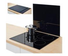 Zeller Present Herdblende-/Abdeckplatte, Glas, schwarz, 56 x 50 cm, schwarz, Unisex, schwarz