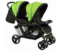 CHIC4BABY Geschwisterwagen mit Regenschutzhaube, »Doppio, schwarz grün«, grün, Unisex, schwarz grün