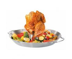 GEFU Hähnchengriller und Gemüse-Wok, silberfarben, Unisex, silberfarben