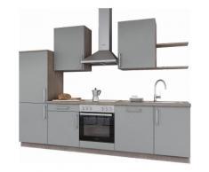 set one by Musterring Küchenzeile »Turin« ohne E-Geräte, Breite 290 cm, grau, Papyrus grau Samtlack