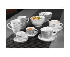 Espresso-Set, Ritzenhoff & Breker, »Cornello Grey« (4-tlg.), weiß, Unisex, weiß