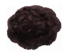 Fell-Teppich, Trend Teppiche, »Fell-Blume«, echtes Lammfell, braun, braun