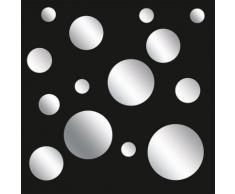 Eurographics Wandsticker-Set »Sparkling Bubbles«, silberfarben, silber