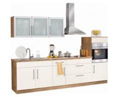 Küchenzeile »Aachen«, mit E-Geräten, Breite 290 cm, gelb, Vanille