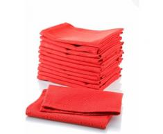 Stoffservietten-Set in Uni-Rot, 12-teilig, rot, Unisex, rot