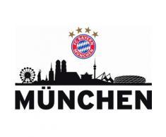 Wandtattoo »FC Bayern Skyline«, 60/27 cm, schwarz, schwarz