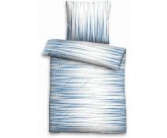 Bettwäsche, Biberna, »Lorey«, mit Kachel Muster, blau, blau