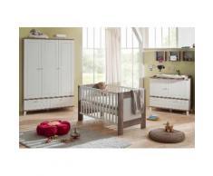 Komplettzimmer »Bella« im Landhausstil: Babybett + Wickelkommode + Kleiderschrank (3-tlg.), in wildeiche NB /weiß, weiß, wildeiche trüffel/weiß matt
