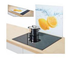 Zeller Present Herdblende-/Abdeckplatte »Lemon Splash«, 56 x 50 cm, weiß, Unisex, weiß, gelb