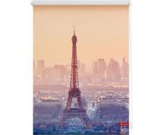 Seitenzugrollo, Lichtblick, »Eiffelturm«, Klemmfix, Kettenzug, Lichtschutz, Fixmaß, ohne Bohren, orange, orange