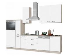 Küchenzeile ohne E-Geräte, OPTIFIT, »Faro«, Breite 300 cm, weiß, weiß Glanz