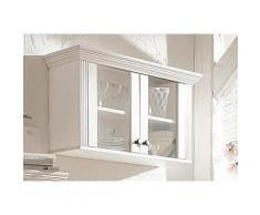 Hängevitrine, Home affaire, Breite 88 cm, Höhe 45 cm, weiß, weiß lackiert