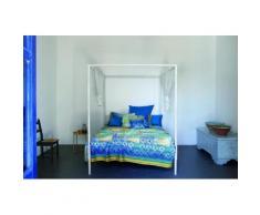Tagesdecke, Bassetti, »Vietri«, mit Kachel-Muster, blau, blau