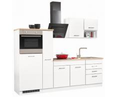 HELD MÖBEL Küchenzeile ohne E-Geräte »Haiti«, Breite 250 cm, weiß, weiß HG