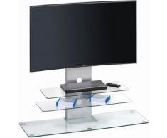 MAJA Möbel TV-Rack »1643«, Höhe 101,5 cm, Metall Alu - Klarglas
