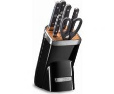 KitchenAid Messerblock KKFMA07OB, 7-teiliges Set, schwarz, schwarz, schwarz