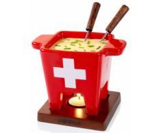 BOSKA Holland Tapas Fondue-Set, 200 ml, »Swiss«, rot, Unisex, rot, weiss, Holz