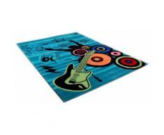 Kinderteppich, »Freude zur Musik«, Theko, rechteckig, Höhe 14 mm, handgetuftet, blau, türkis