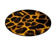 Teppich, Zala Living, »Animal Print Giraffe« in Fell-Optik, rund, gelb, Gelb Braun