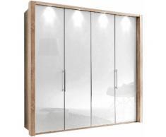WIEMANN Panorama-Falttürenschrank »Loft« mit Glasfront in 3 Breiten, Breite 200 cm