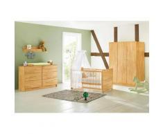 Pinolino Babyzimmer Set »Natura« extrabreit groß (3-tlg.), natur, buche vollmassiv, geölt