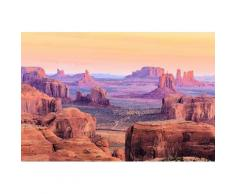 Home affaire Fototapete »Hunts Mesa Sunrise«, 350/260 cm, braun, braun/lila/gelb