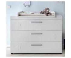 Wickelkommode, Breite 125 cm passend zur Babymöbel Serie »Basel« in weiß matt, weiß, weiß matt